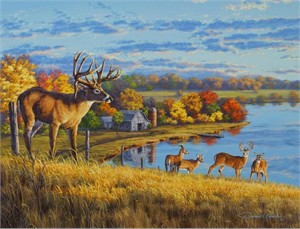 "Darrell Bush Hand Signed and Numbered Limited Edition Giclee:""King of the Hill"""