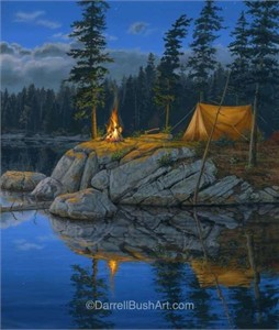 "Darrell Bush Hand Signed and Numbered Limited Edition Giclee Canvas:""Solitude"""