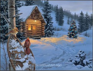 "Darrell Bush Hand Signed and Numbered Limited Edition Giclee:""Winter Colors"""