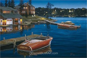 """Darrell Bush Hand Signed and Numbered Limited Edition Giclee:""""Legends of the Lake"""""""