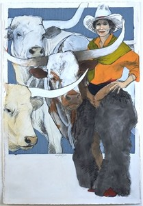 """Donna Howell-Sickles Hand Signed and Numbered Limited Edition Giclee :"""" Standing with the Boys """""""