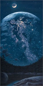 "Rob Gonsalves Limited Edition Giclee :""Night Lights"""