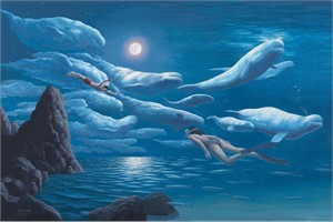 "Rob Gonsalves Limited Edition Giclee on Paper or Canvas:""Union of Sea & Sky"""