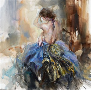 """Anna Razumovskaya Hand Signed and Numbered Limited Edition Artist Embellished Canvas Giclee:""""Versailles Mystery"""""""