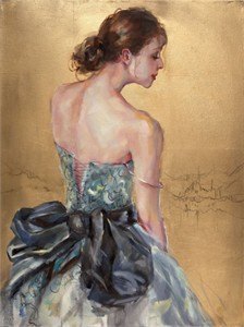 "Anna Razumovskaya Hand Signed and Numbered Limited Edition Artist Embellished Canvas Giclee: ""Still Dreaming"""