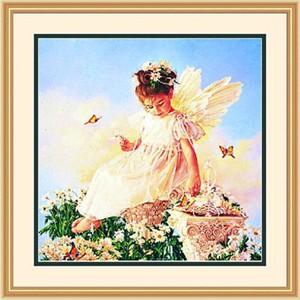 "Framed Art:""Butterfly Kisses by Jean Monti"""