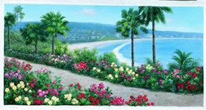 """Diane Romanello Limited Edition Giclee on Canvas: """" Tropical Paradise """""""