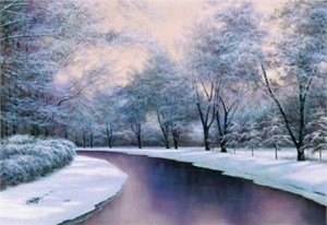 "Diane Romanello Limited Edition Giclee on Canvas: "" Winter Sunlight """