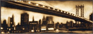 """Paul Chojnowski Signed and Numbered Limited Edition Suite on Giclée on Moab Entrada Paper: """"Manhattan Bridge"""""""