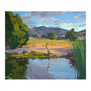 """Marcia Burtt Signed and Numbered Limited Edition Giclée on Hahnemuhle paper:""""Clouds over Pond"""""""