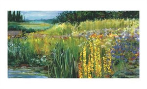 "Carol Rowan Signed and Numbered Limited Edition Giclée on Somerset Velvet Paper:""Meadow V"""