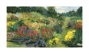 "Carol Rowan Signed and Numbered Limited Edition Giclée on Somerset Velvet Paper:""Garden With Red and Purple"""