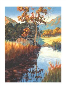 "Donald Munz Signed and Numbered Limited Edition Giclée on Somerset Velvet Paper:""Meadow Pond"""
