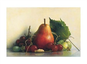 "James Del Grosso Signed and Numbered Limited Edition Giclée on Somerset Velvet Paper:""Leslie's Red Pear"""
