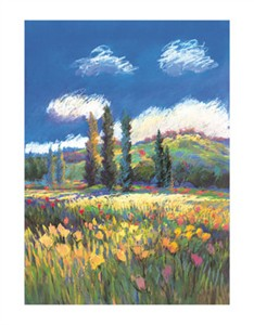"Sandi Dahl Signed and Numbered Limited Edition Giclée on Somerset Velvet Paper:""Monet's Field"""