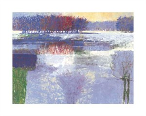 "John Mominee Signed and Numbered Limited Edition Giclée on Somerset Velvet Paper:""Winter Sunset"""