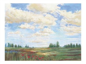 "Carol Rowan Signed and Numbered Limited Edition Giclée on Somerset Velvet Paper:""Field of Poppies"""