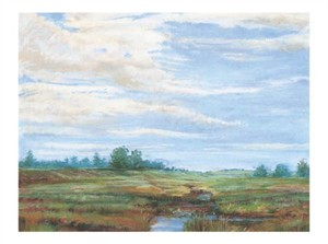 "Carol Rowan Signed and Numbered Limited Edition Giclée on Somerset Velvet Paper:""Navarino Landscape"""
