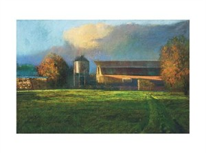 """Gil Dellinger Signed and Numbered Limited Edition Giclée on Somerset Velvet Paper:""""The Dairy in Autumn"""""""