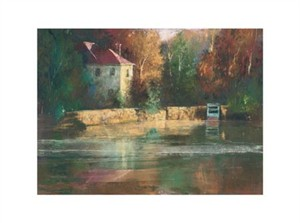 """Gil Dellinger Signed and Numbered Limited Edition Giclée on Somerset Velvet Paper:""""Cape Cod Mill"""""""