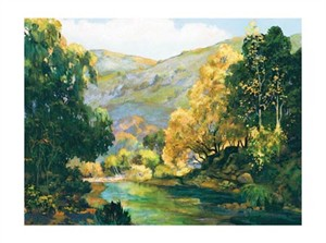 "Donald Munz Signed and Numbered Limited Edition Giclée on Somerset Velvet Paper:""Carmel Valley"""