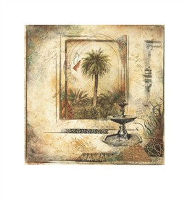 "Arnold Iger Signed and Numbered Limited Edition Giclée on Somerset Velvet Paper:""Palm Garden II"" (Sold Out)"