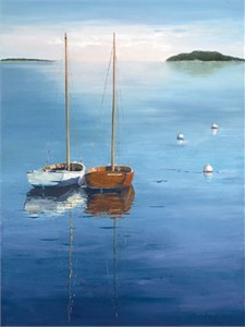"""Laurie Chase Signed and Numbered Limited Edition Giclée on Canvas:""""Day Sailing"""""""