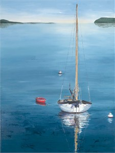 "Laurie Chase Signed and Numbered Limited Edition Giclée on Canvas:""The Red Dinghy"""