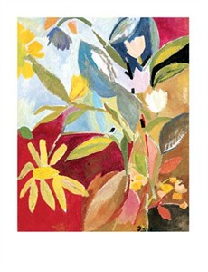 "Kim Parker Signed and Numbered Limited Edition Giclée on Somerset Velvet Paper:""Garden With Daffodils"""