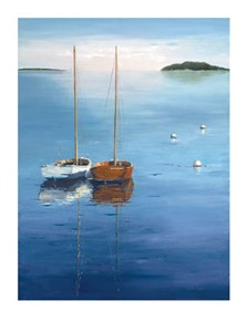 """Laurie Chase Signed and Numbered Limited Edition Giclée on Somerset Velvet Paper:""""Day Sailing"""""""