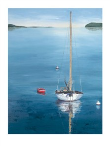 "Laurie Chase Signed and Numbered Limited Edition Giclée on Paper:""The Red Dinghy"""
