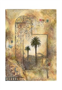 """Arnold Iger Signed and Numbered Limited Edition Giclée on Somerset, hand embellishment with foil optional Paper:""""The Key"""""""