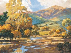 "Donald Munz Signed and Numbered Limited Edition Giclée on Somerset Velvet Paper:""Agoura Hills"""