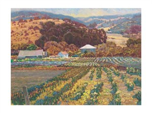 "Lois Johnson Signed and Numbered Limited Edition Giclée on Somerset Velvet Paper:""Golden Season II"""