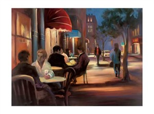 "Carol Jessen Signed and Numbered Limited Edition Gicl�e on Somerset Velvet Paper:""Shadow of Night"""