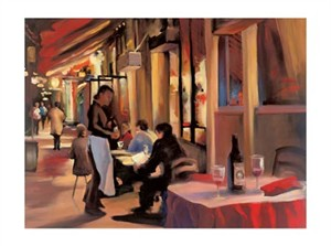 "Carol Jessen Signed and Numbered Limited Edition Giclée on Somerset Velvet Paper:""Alone Together"""