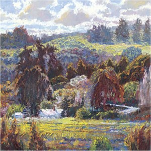 "Lois Johnson Signed and Numbered Limited Edition Giclée on Museo Paper:""Sheltered Valley II"""