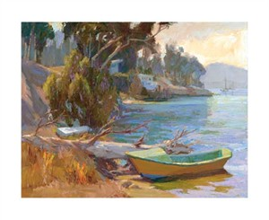 "Camille Przewodek Signed and Numbered Limited Edition Giclée on Museo Paper:""Early Morning Boats"""