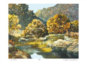"Donald Munz Signed and Numbered Limited Edition Giclée on Somerset Velvet Paper:""Lingering Light"""