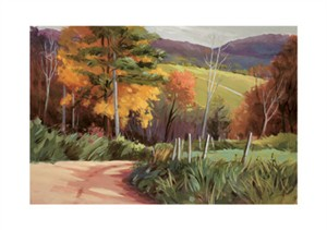 "Marianne Dunn Signed and Numbered Limited Edition Giclée on Crane Museo Paper:""A Path Through Autumn I"""
