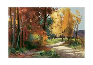 "Marianne Dunn Signed and Numbered Limited Edition Giclée on Crane Museo Paper:""A Path Through Autumn II"""