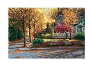 "Gregory Wilhelmi Signed and Numbered Limited Edition Giclée on Somerset Velvet Paper:""Chestnut Lane"""