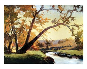 "Ray Roberts Signed and Numbered Limited Edition Gicl�e on Paper:""Evening Sycamore"""