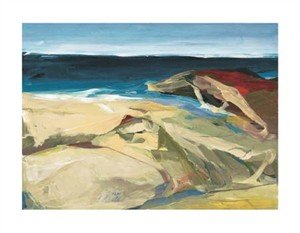 "Barbara Rainforth Signed and Numbered Limited Edition Giclée on William Turner Paper:""Beach Horizon #9"""