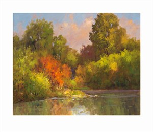 "Peter Beckmann Signed and Numbered Limited Edition Giclée on William Turner Paper:""Iroquois Song"""