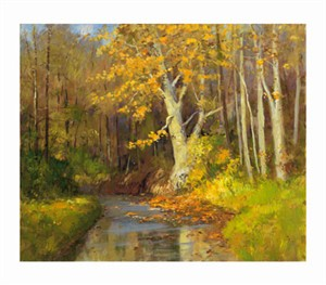 "Peter Beckmann Signed and Numbered Limited Edition Giclée on William Turner Paper:""Scent of Autumn"""
