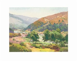"""Ray Roberts Signed and Numbered Limited Edition Giclée on Somerset Velvet Paper:""""Limestone Creek"""""""