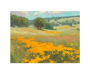 "Ray Roberts Signed and Numbered Limited Edition Giclée on Somerset Velvet Paper:""Poppies"""