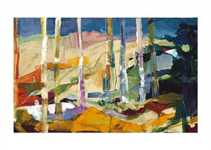 "Barbara Rainforth Signed and Numbered Limited Edition Giclée on Somerset Velvet Paper:""Spring Forest II"""
