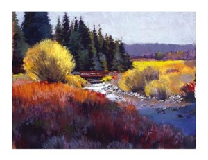 "Dennis Rhoades Signed and Numbered Limited Edition Giclée on Masterpiece Fine Art Paper:""Peaceful Stream"""